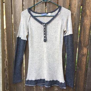 Acrobat Silk/Cashmere Blend Gray Sweater Sz S
